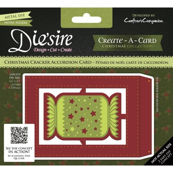 Die`sire - Die - Create-A-Card - Christmas Cracker Accordion Card - DS-CADA-CCRA