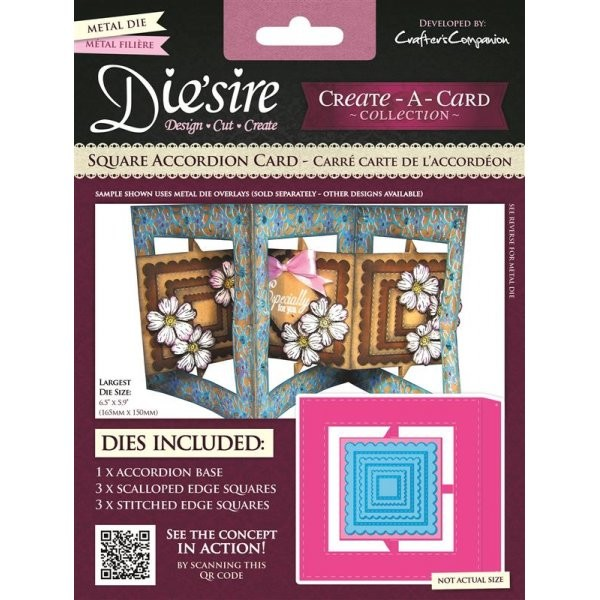 Die`sire - Die - Create-A-Card - Square Accordion Card - DS-CADA-SQU