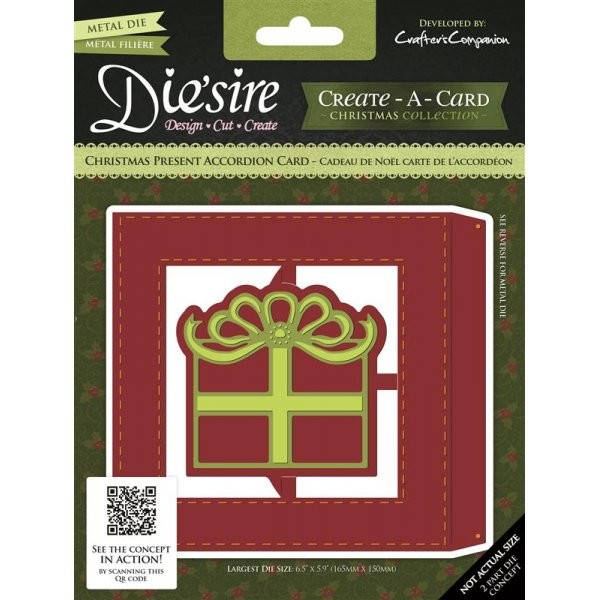 Die`sire - Die - Create-A-Card - Christmas Present Accordion Card - DS-CADA-CPRE