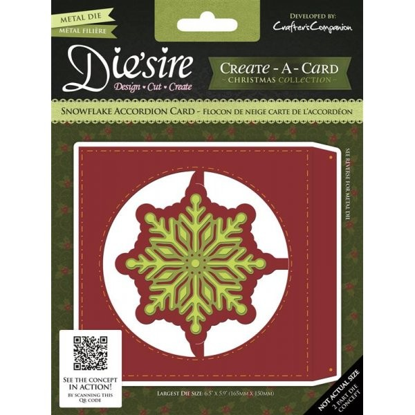 Die`sire - Die - Create-A-Card - Christmas Collection - Snowflake Accordion Card - DS-CADA-SNOW