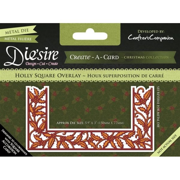 Die`sire - Die - Create-A-Card - Holly Square Overlay - DS-CADO-HOLS