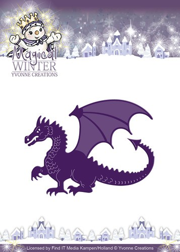 Card Deco - Yvonne Creations - Die - Magical Winter - Dragon