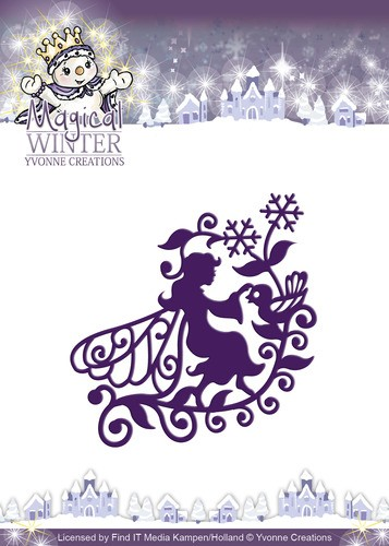 Card Deco - Yvonne Creations - Die - Magical Winter - Fairy