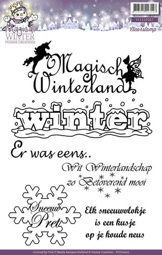 Yvonne Creations - Clearstamp - Magical Winter - Tekst - YCCS10007