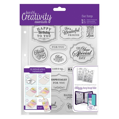 Docrafts - Creativity Essentials - Clearstamp - Trad Sentiment - DCE907118