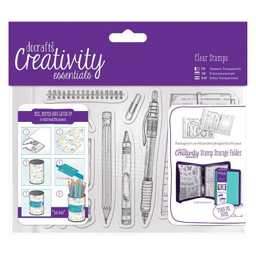 Docrafts - Creativity Essentials - Clearstamp - Stationery - DCE907122