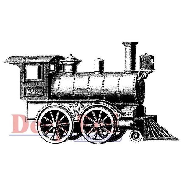 Deep Red - Cling Stamp - Locomotive - 3X505107