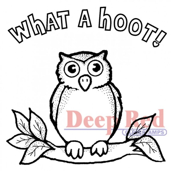 Deep Red - Cling Stamp - Hoot Owl - 3X404238