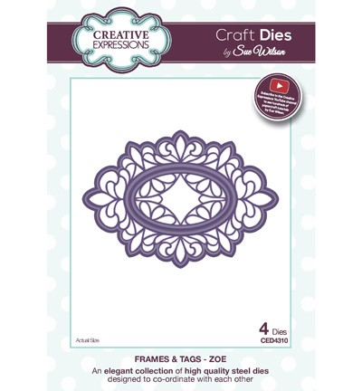 Creative Expressions - Die - Frames & Tags - Zoe