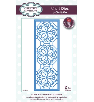Creative Expressions - Die - The Striplet Collection - Ornate Octagons - CED1614