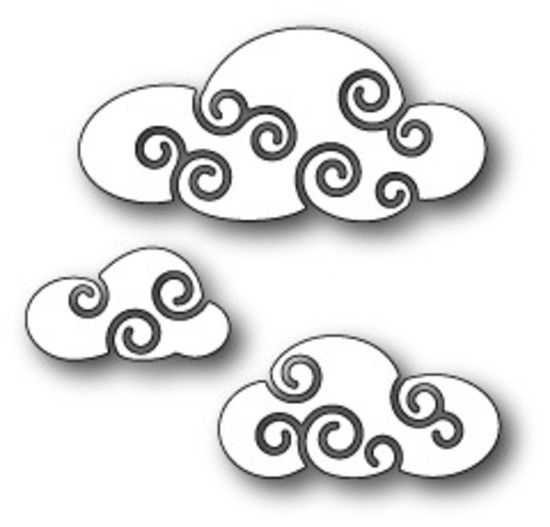 Memory box - Poppystamp - Die - Twirly Clouds
