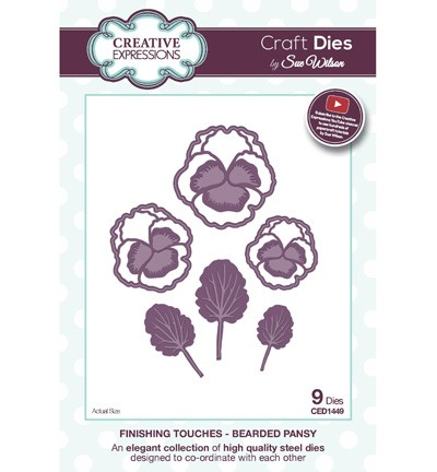 Creative Expressions - Die - The Finishing Touches Collection - Bearded Pansy