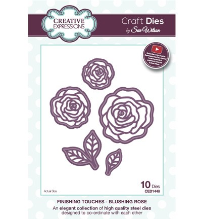 Creative Expressions - Die - The Finishing Touches Collection - Blushing Rose