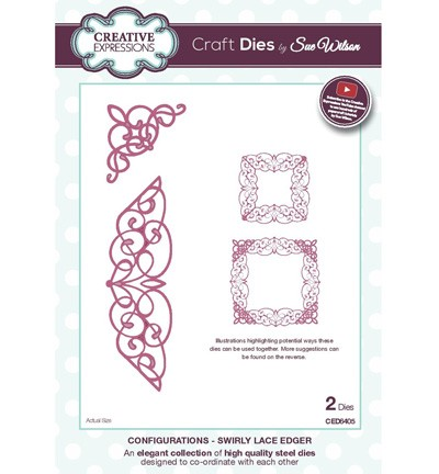 Creative Expressions - Die - The Configurations Collection - Swirly Lace Edger
