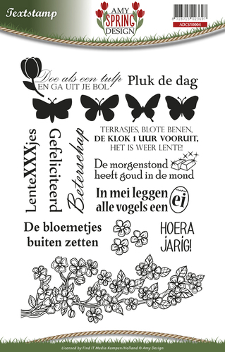 Amy Design - Clearstamp - Spring - Tekst - ADCS10004