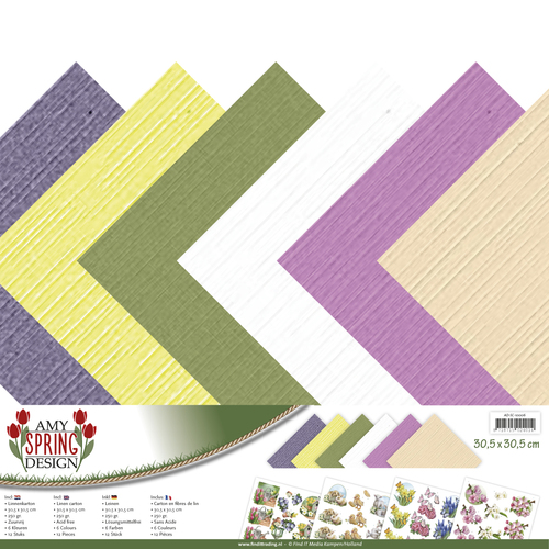 Amy Design - Linnenpakket 305 x 305mm - Spring Collection - AD-SC-10006