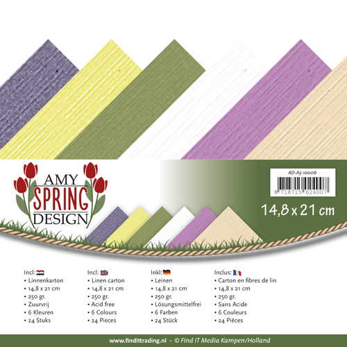 Amy Design - Linnenpakket - 148 x 210mm (A5) - Spring Collection - AD-A5-10006