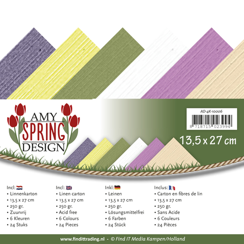 Amy Design - Linnenpakket 135 x 270mm - Spring Collection