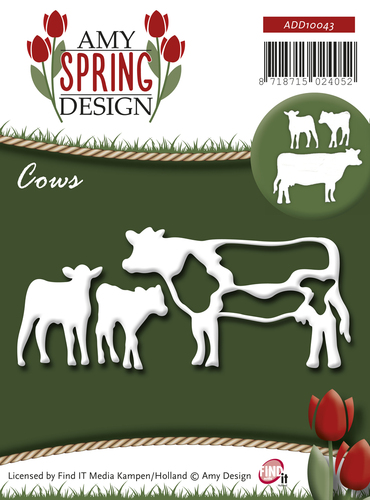 Card Deco - Amy Design - Die - Spring - Cows