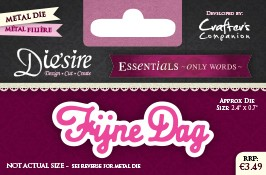 Die`Sire - Die - Essentials - Only Words - Fijne Dag - DS-E-W-36-NL