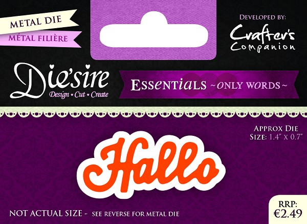 Die`Sire - Die - Essentials - Only Words - Hallo - DS-E-W-12-NL