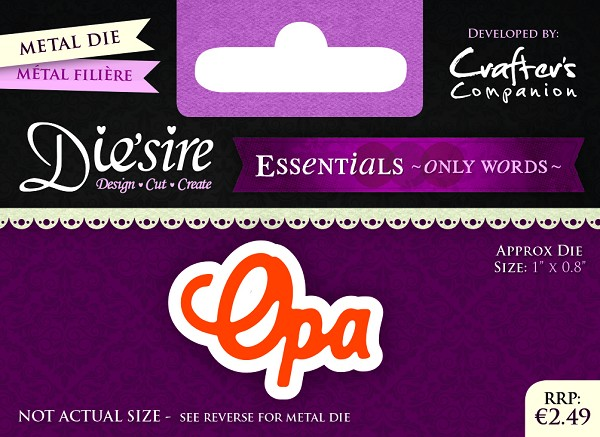 Die`Sire - Die - Essentials - Only Words - Opa - DS-E-W-04-NL