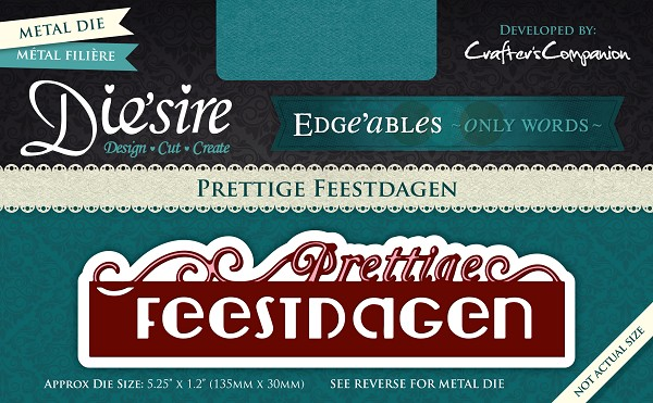 Die`sire - Edge`ables - Only Words - Prettige Feestdagen - DS-EDG-NL-PRET