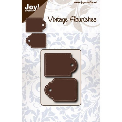 Joy! crafts - Noor! Design - Die - Vintage Flourishes - Dubbele tag