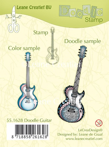 Leane Creatief - Clearstamp - Doodle - Guitar - 55.1628