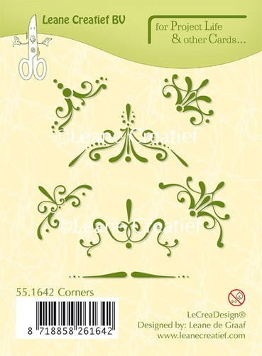 Leane Creatief - Clearstamp - Project Life - Corners - 55.1642