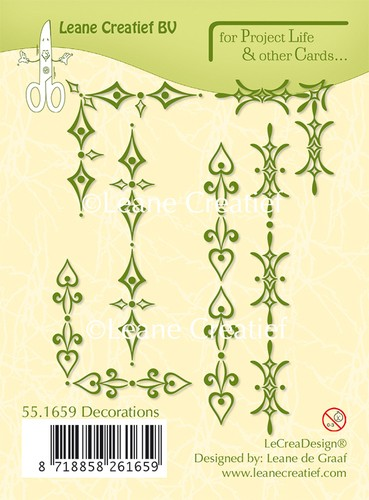 Leane Creatief - Clearstamp - Project Life - Decorations - 55.1659