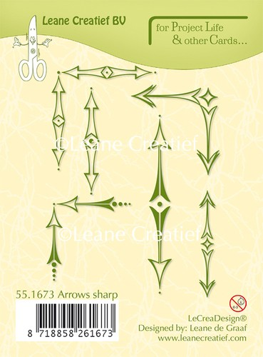 Leane Creatief - Clearstamp - Project Life - Arrows sharp - 55.1673