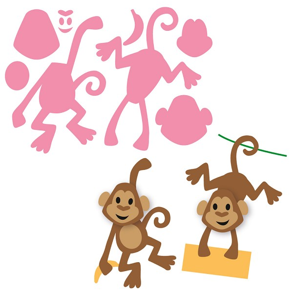 Marianne Design - Die - Collectables - Eline`s monkey - COL1399