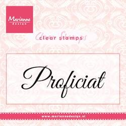 Marianne Design - Clearstamp - Proficiat - CS0957