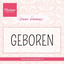 Marianne Design - Clearstamp - Geboren - CS0959
