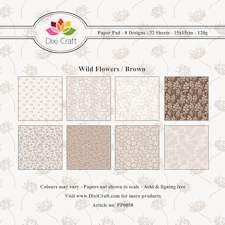 Dixi Craft - Paperpack - Wild flowers: Brown - PP0058