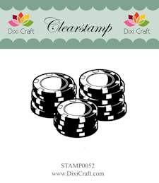 Dixi Craft - Clearstamp - Poker chips - STAMP0052