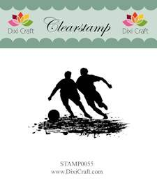 Dixi Craft - Clearstamp - Boys playing football - STAMP0055