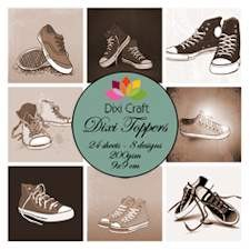 Dixi Craft - Paperpack - Shoes: Sepia - ET0262