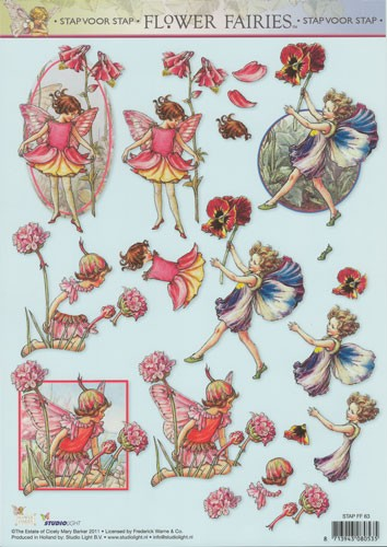 Studio Light - 3D-knipvel A4 - Flower fairies - STAPFF63