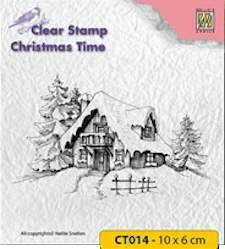 Nellie Snellen - Clearstamp - Christmas Time - Snowy house - CT014