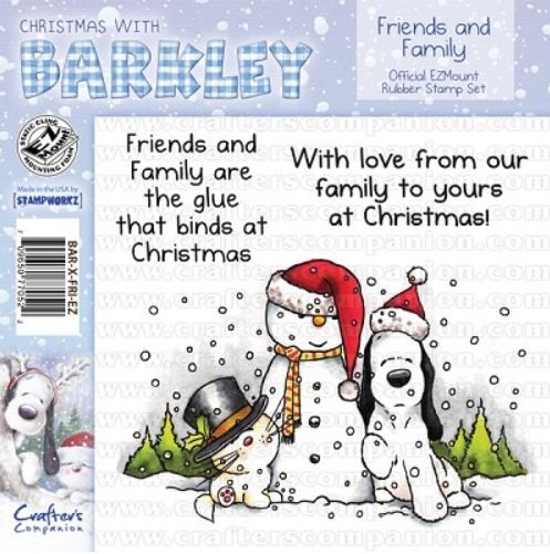 Crafter`s Companion - Barkley - Cling Stamp - Friends And Family - BAR-X-FRI-EZ