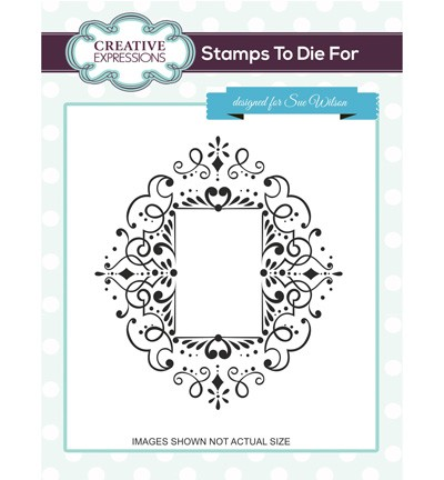 Creative Expressions - Cling Stamp - Stamps To Die For - Corinthiun Scroll - UMS673