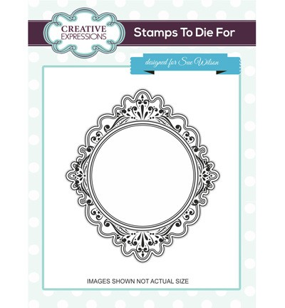 Creative Expressions - Cling Stamp - Stamps To Die For - Encore Scroll - UMS674