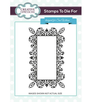 Creative Expressions - Cling Stamp - Stamps To Die For - Emma`s Celebration Frame - UMS679