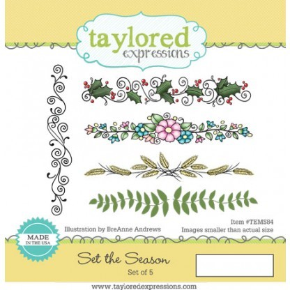 Taylored Expressions - Cling Stamp - Set the Season - TEMS84