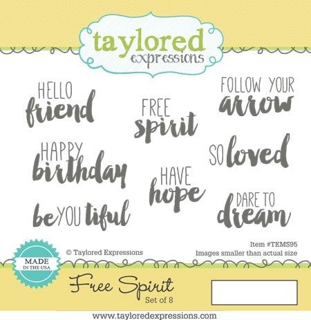 Taylored Expressions - Cling Stamp - Free Spirit - TEMS95