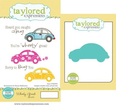 Taylored Expressions - Cling Stamp - Wheely Great Stamp & Die Combo - TEPS76