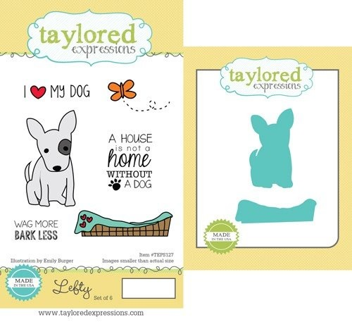 Taylored Expressions - Cling Stamp - Lefty Stamp & Die Combo - TEPS127