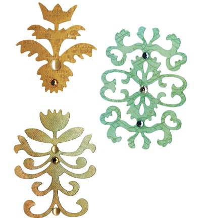 Sizzix - Die - Sizzlits - Floral Insignia